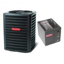 120,000 BTU 80/% AFUE Horizontal Gas Furnace GMH81205DX Coil CHPF4860D6 Goodman 4 Ton 14 SEER Air Conditioner GSX140481