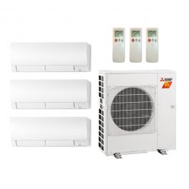 mxz3c30nahz 3 mszfh06na 18 000 btu 18 seer mitsubishi 3 zone ductless mini split heat pump. Black Bedroom Furniture Sets. Home Design Ideas