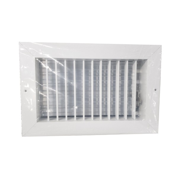 """Curved Blade One-Way Supply Ceiling Register Grille 10/"""" x 8/"""" CBHML1ME-WH10X8"""