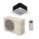 12,000 Btu 19.5 Seer Carrier Single Zone Ductless Cassette Mini Split Heat Pump System