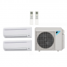 18,000 Btu 18.9 Seer Daikin 2-Zone Mini Split Heat Pump System - 9K-9K