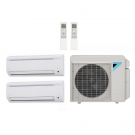 14,000 Btu 17.7 Seer Daikin 2-Zone Ductless Mini Split Heat Pump System - 7K-7K