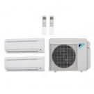 14,000 Btu 17.7 Seer Daikin Multi Zone Ductless Mini Split Heat Pump System - 7K-7K