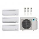 25,000 Btu 17.7 Seer Daikin 3-Zone Ductless Mini Split Heat Pump System - 7K-9K-9K