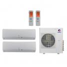 27,000 Btu 21 Seer Gree 2-Zone Ductless Mini Split Heat Pump System - 9K-18K