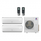 24,000 Btu 21 Seer Gree 2-Zone Ductless Mini Split Heat Pump System - 12K-12K