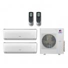 24,000 Btu 21 Seer Gree 2-Zone Ductless Mini Split Heat Pump System - 12K-12K