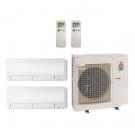 12,000 Btu 20 SEER MitsuBishi Multi Zone Ductless Mini Split Heat Pump System - 6K-6K