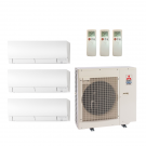 18,000 Btu 20 Seer Mitsubishi 3-Zone Ductless Mini Split Heat Pump System - 6K-6K-6K