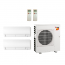 21,000 Btu 18 SEER Mitsubishi 2-Zone Ductless Mini Split Heat Pump System - 9K-12K