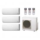 23,000 Btu 18 Seer Fujitsu 3-Zone Ductless Mini Split Heat Pump System - 7K-7K-9K