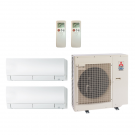 18,000 Btu 20 Seer Mitsubishi Dual Zone Ductless Mini Split Heat Pump System - 9K-9K