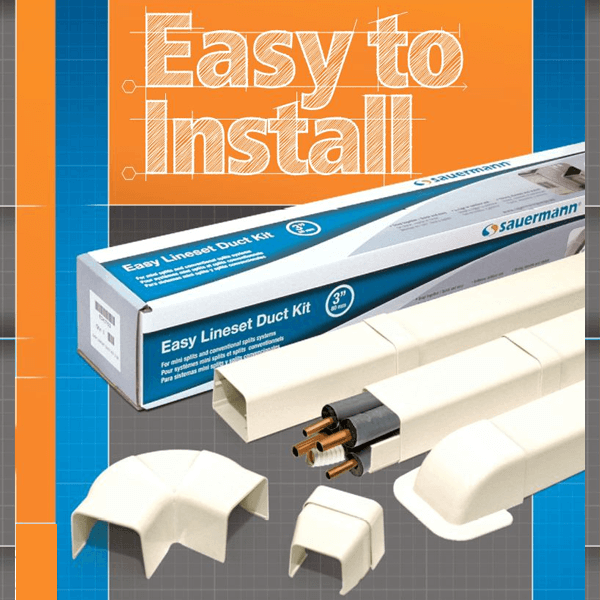 Line Hide - Easy Lineset Duct Kit - Sauermann
